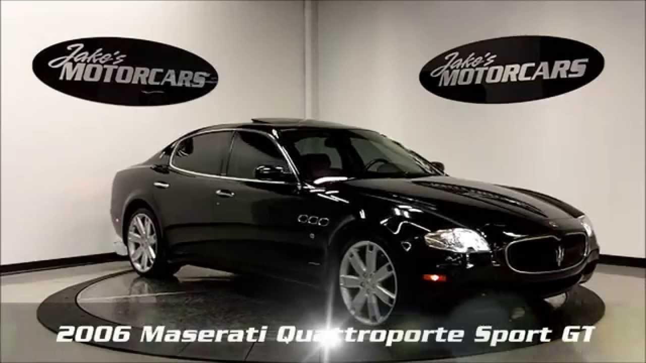 2006 maserati quattroporte sport gt black saddle jake 39 s motorcars youtube. Black Bedroom Furniture Sets. Home Design Ideas