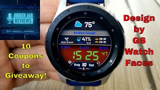 Samsung Galaxy Watch/Gear Watch Face by GS Watchfaces - 10 Coupons to Giveaway - Jibber Jab Reviews!