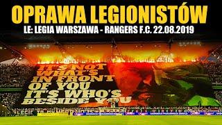 LEGIA WARSAW CHOREO: Legia Warszawa - Rangers F.C. 22.08.2019