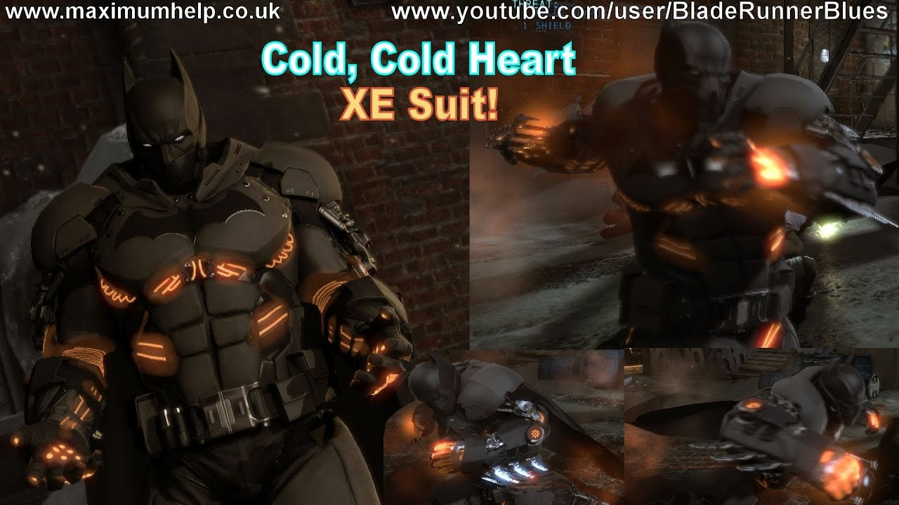 Batmans New XE Suit Showcase Cold Heart DLC Arkham Origins Walkthrough PC Hard Max Settings
