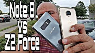 Motorola Moto Z2 Force vs Samsung Galaxy Note 8 - Quien aplasta a quien?