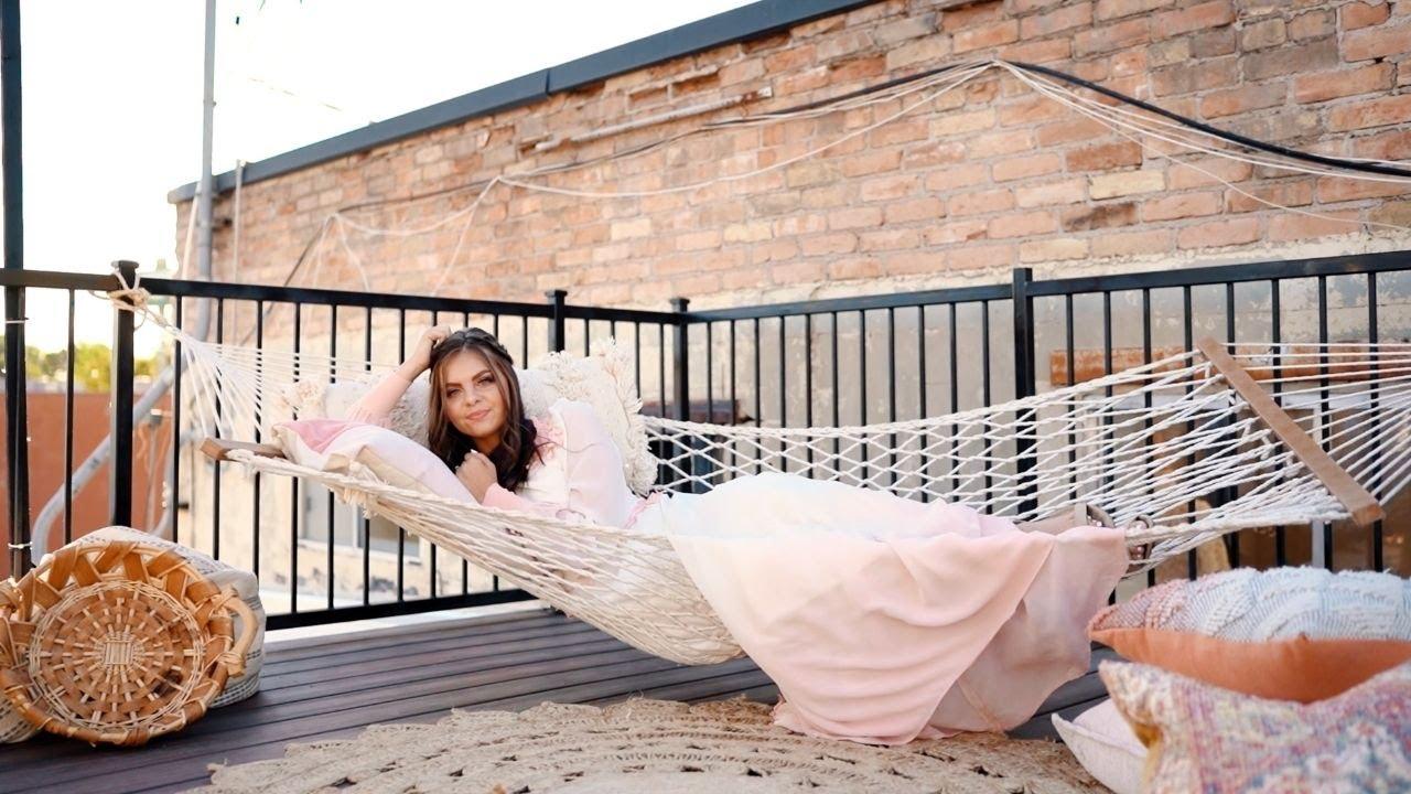 PINK WEDDING DRESS! Boho Rooftop Wedding
