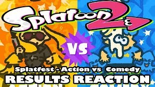 Splatoon 2 Splatfest - Action vs Comedy Results Reaction