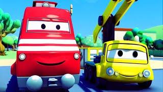 Troy el Tren y la Grúa en Auto City   Dibujos animados para niños
