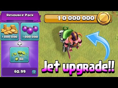 Clash Of Clans - JET PACK!!! TROOP GLITCH, MAX STORAGE & MORE!!