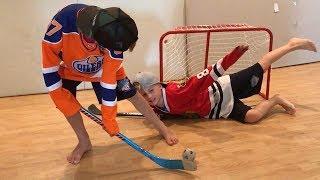 Patrick Kane takes on Connor McDavid in Epic Knee Hockey Game at Butcher Boyz Arena