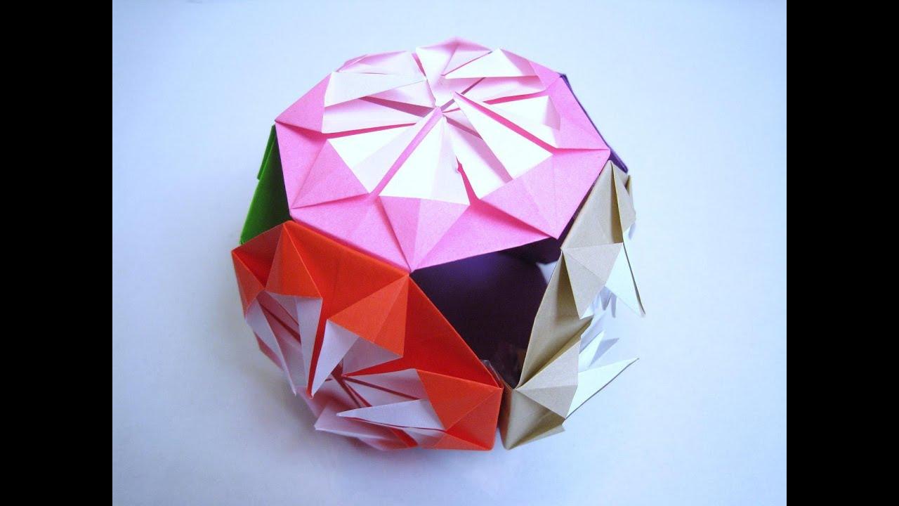 すべての折り紙 お正月 折り紙 折り方 : 飾り 折り紙 簡単 くす玉の折り ...