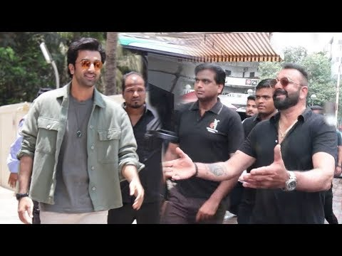 Ranbir Kapoor's MACHO ENTRY With Sanju Baba At Sanjay Dutt Biopic Sanju Trailer Launch