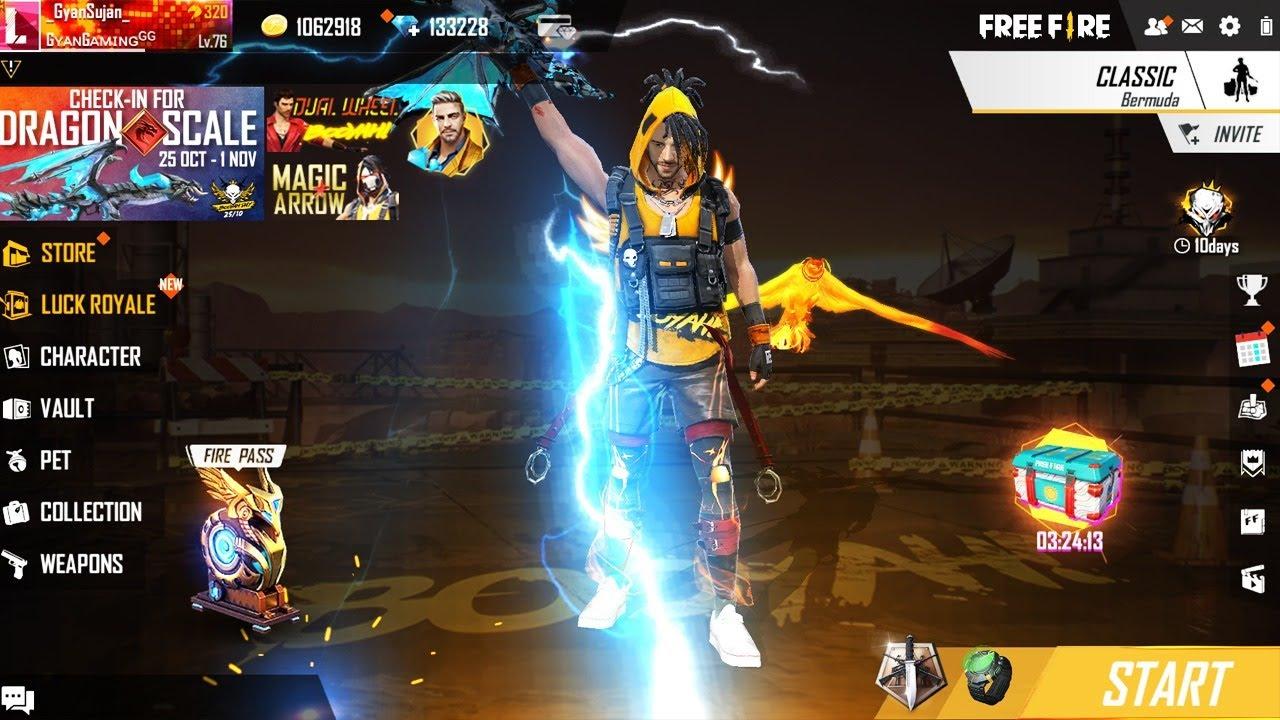 Garena Free Fire Live - New Blue Flame Thor AK47