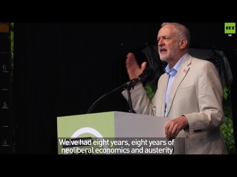 Thousands join Jeremy Corbyn at TUC march