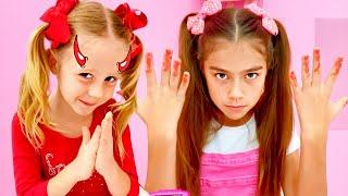 Nastya und Zuhause für kinder mit Überraschungen
