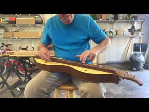 A Yellow Cypress and Black Walnut Mountain Dulcimer