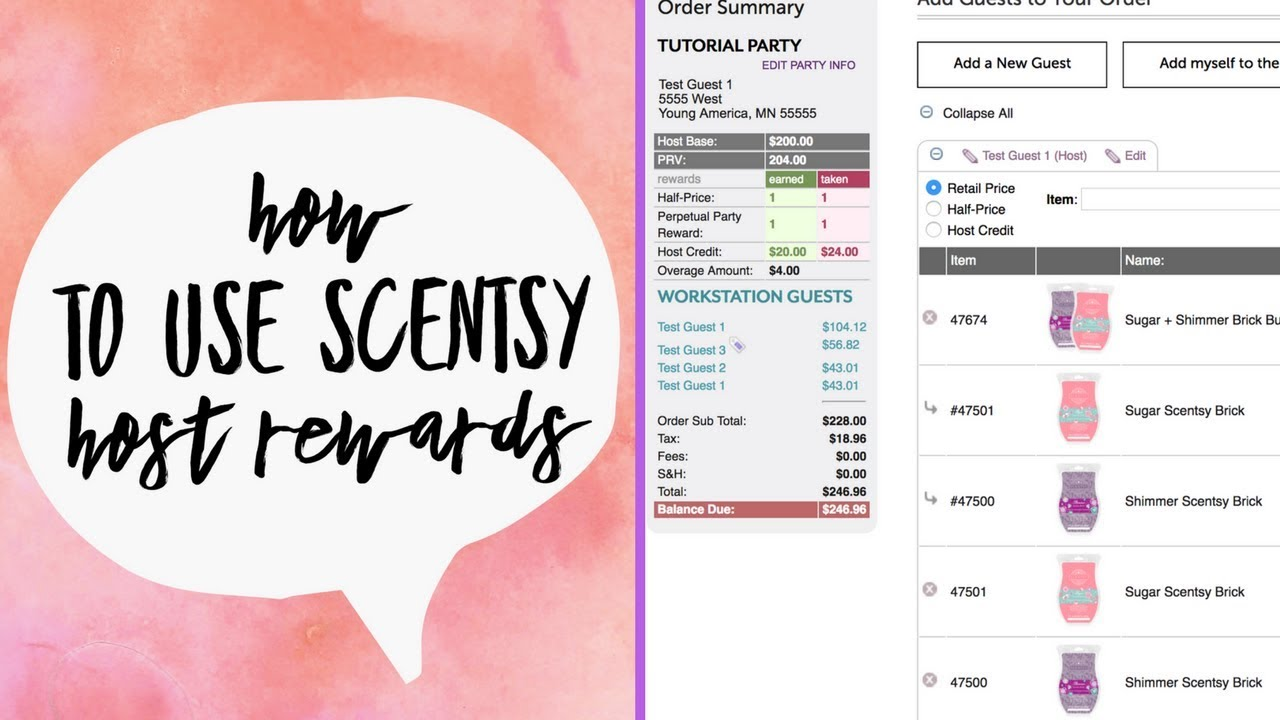 Enter Host Rewards Perpetual Party Reward Placing First Scentsy