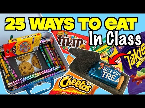 25 Clever Ways To Sneak Food and Candy Into Class Using School Supplies - NEVER FAILS | Nextraker