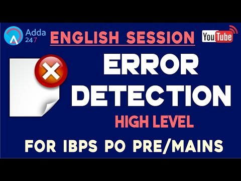 IBPS PO PRE/MAINS | Error Detection (High Level) | English (L-7) | Online Coaching for SBI IBPS