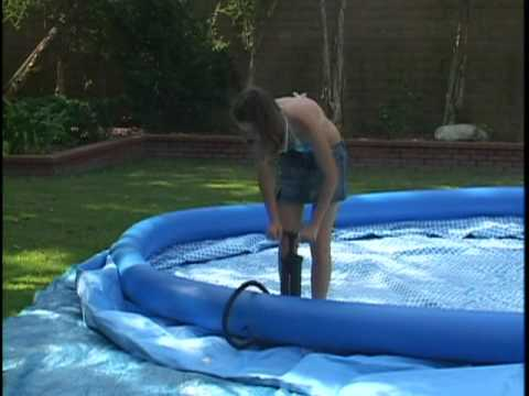 easy set pool setting up your intex easy set pool youtube. Black Bedroom Furniture Sets. Home Design Ideas