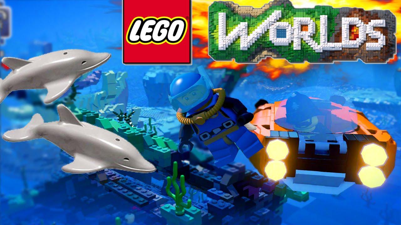 lego worlds underwater base lego land build epic lego