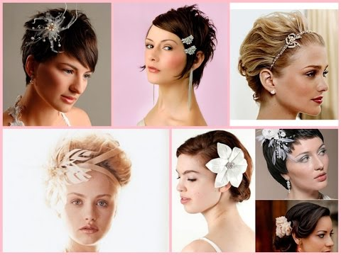 Wedding hairstyle for short hair - 30 best ideas - YouTube