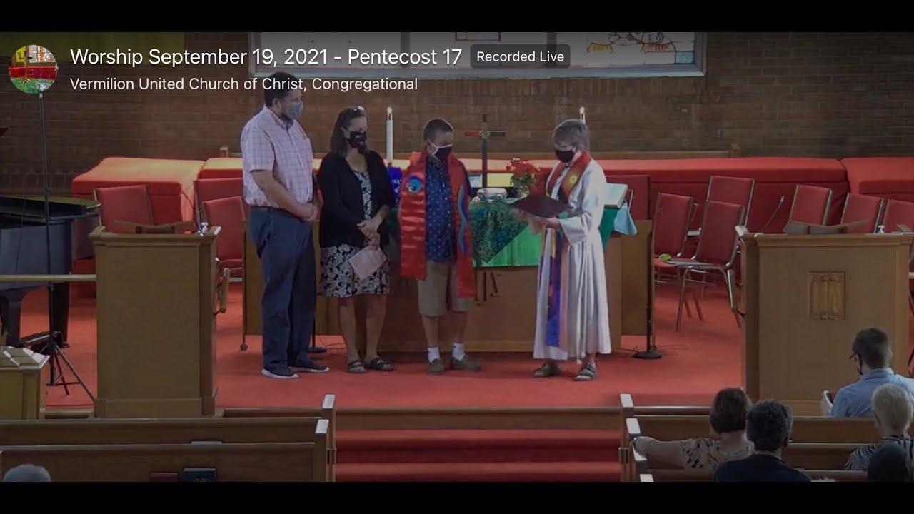 Worship September 19, 2021   Pentecost 17