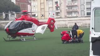 Hava ambulansıyla İzmir'e sevk edildi