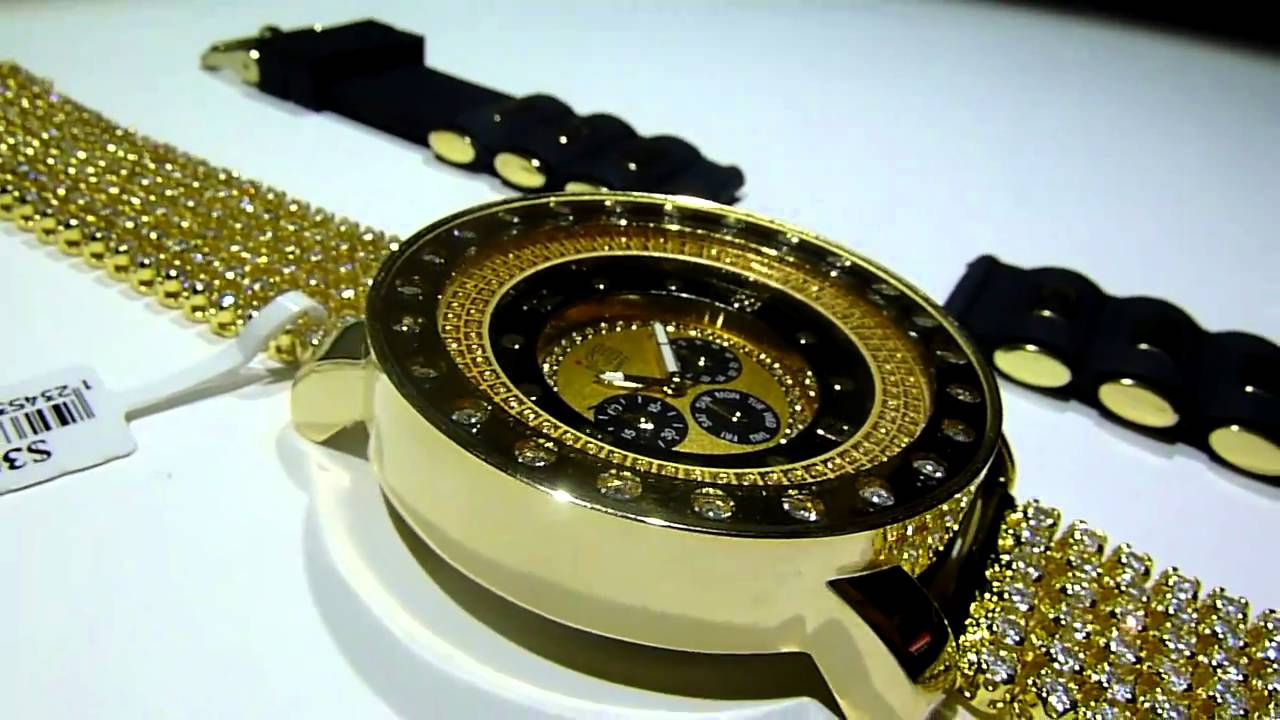 (SOLD) 149 ICY GOLD Black ICED-OUT Breitling Sport-type