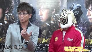俳優の哀川翔さんが10月14日、両国国技館で行われた映画「タイガーマス...