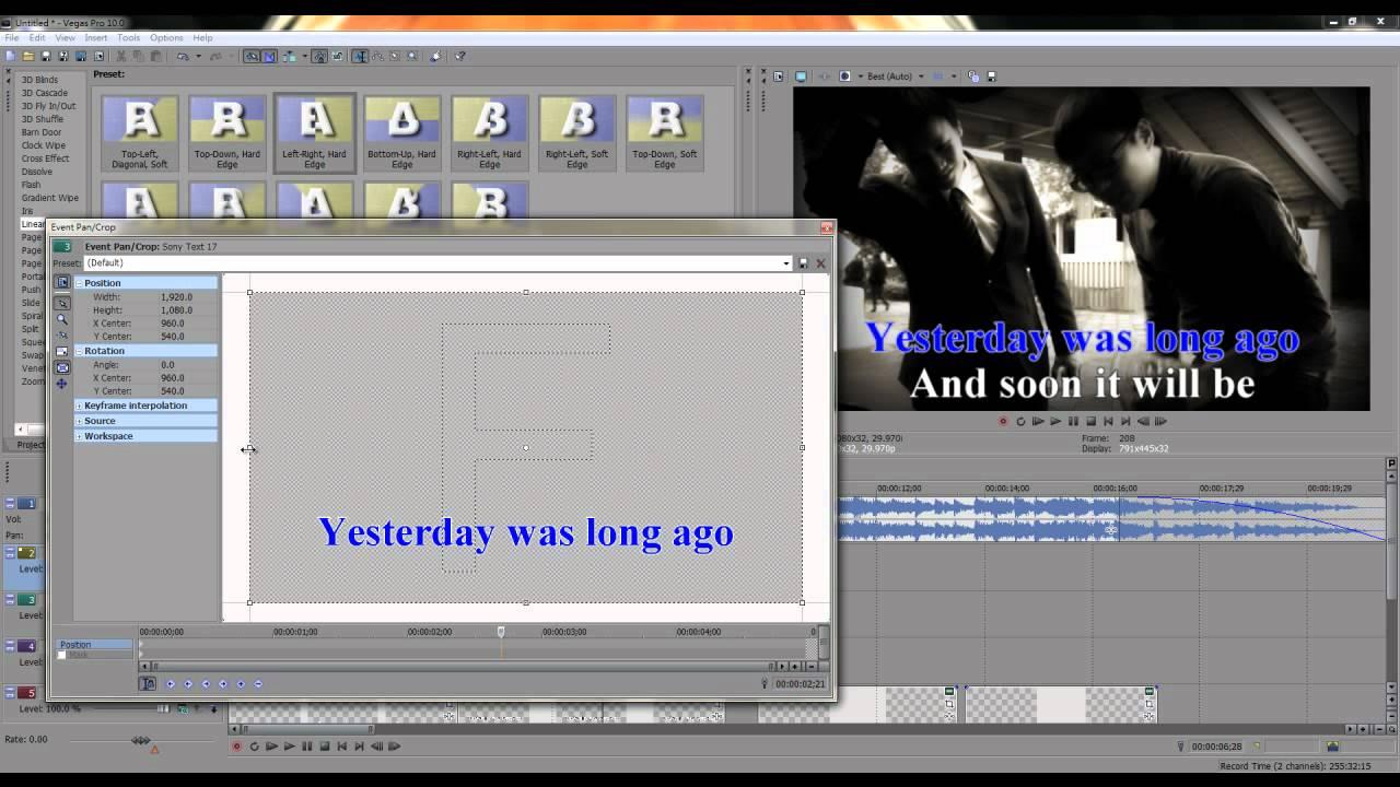 Sony Vegas Tutorial 教學第十四集:卡拉OK(Karaoke)字幕 (教學) - YouTube