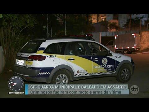 Guarda civil é baleado e tem moto roubada em São Paulo | Primeiro Impacto (18/06/18)