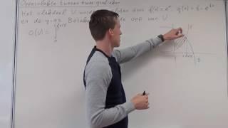 Integreren - Oppervlakte tussen twee grafieken (VWO wiskunde B)
