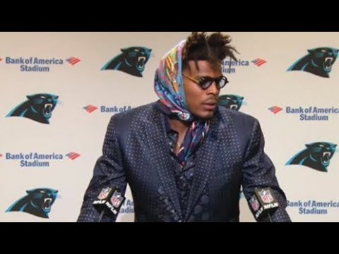 Image result for cam newton press conference outfit