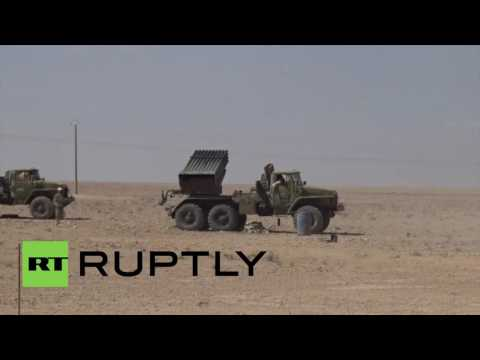 Syria: Drone shows Syrian army capturing Islamic State-controlled territory
