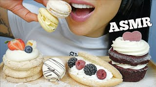 ASMR SWEET PASTRY *MACARON + RED VELVET CAKE (SOFT EATING SOUNDS) NO TALKING | SAS-ASMR