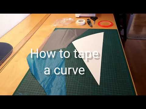 How to tape a curve