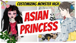 Custom Asian Princess Doll - Monster High Dolls Repaint Tutorial by Poppen Atelier #art #dolls