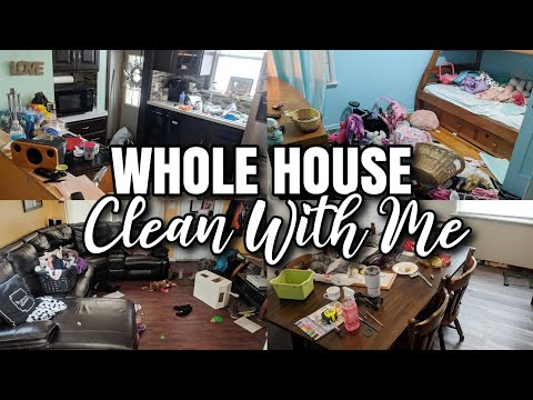 EXTREME CLEAN WITH ME | TIME LAPSE CLEANING WHOLE HOUSE 🏠 | MESSY HOUSE CLEANING MOTIVATION