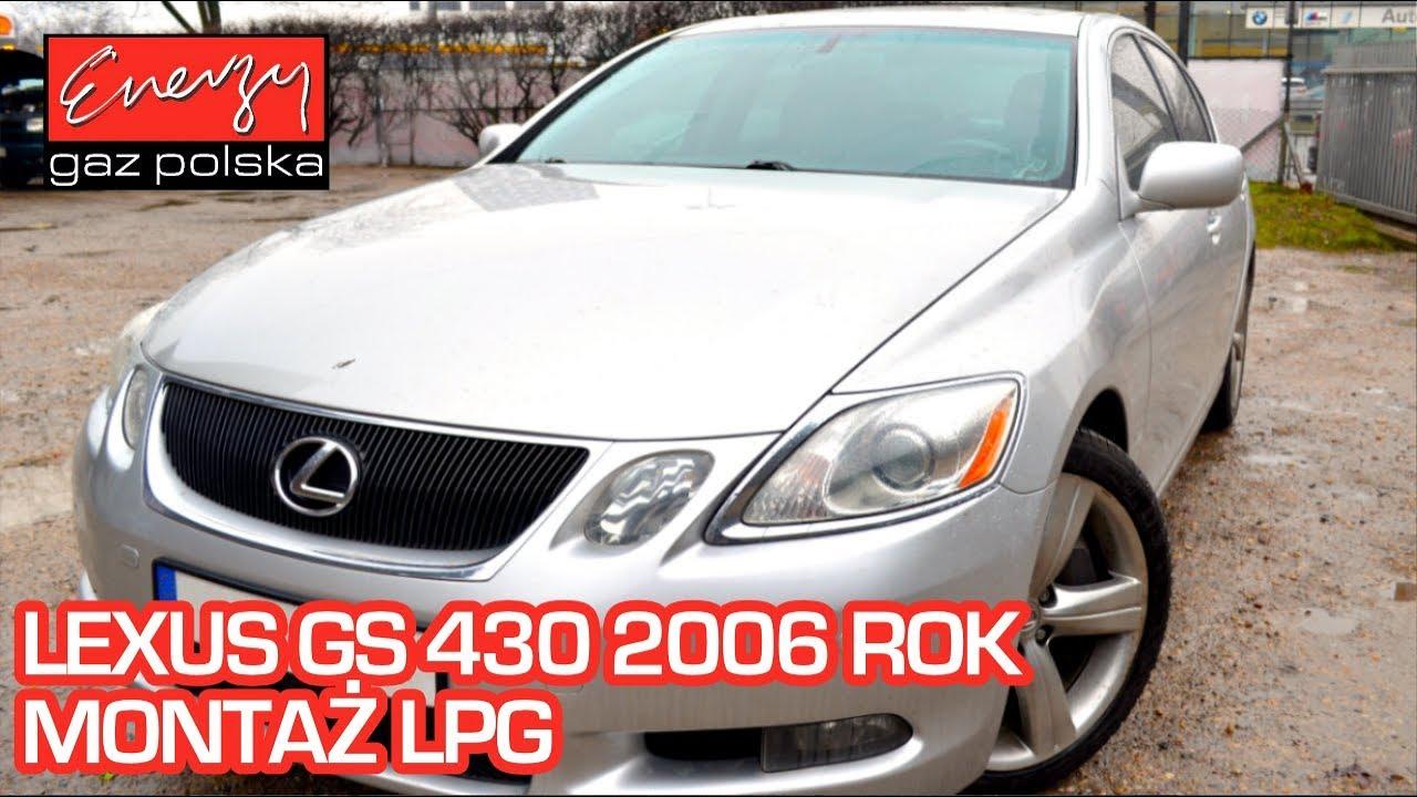 Montaż LPG Lexus GS 430 4.3 V8 283KM 2006r w Energy Gaz Polska na auto gaz BRC SQ P&D