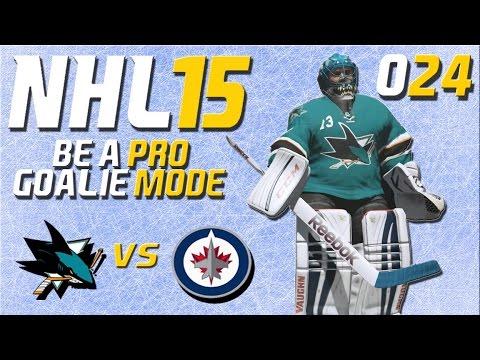 NHL 15 Torhütermodus [Be A Pro] #024 - San Jose Sharks - Winnipeg Jets ★ Let's Play NHL 15 Be a Pro