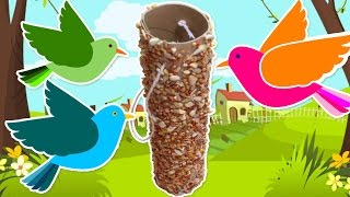 How To Make A Bird Feeder At Home | Easy Diy Spring Room Decor | Bird Feeder Tutorial