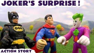 Joker Surprises Superman and Batman Mashems Toy Story Family Fun Kids Toys Video