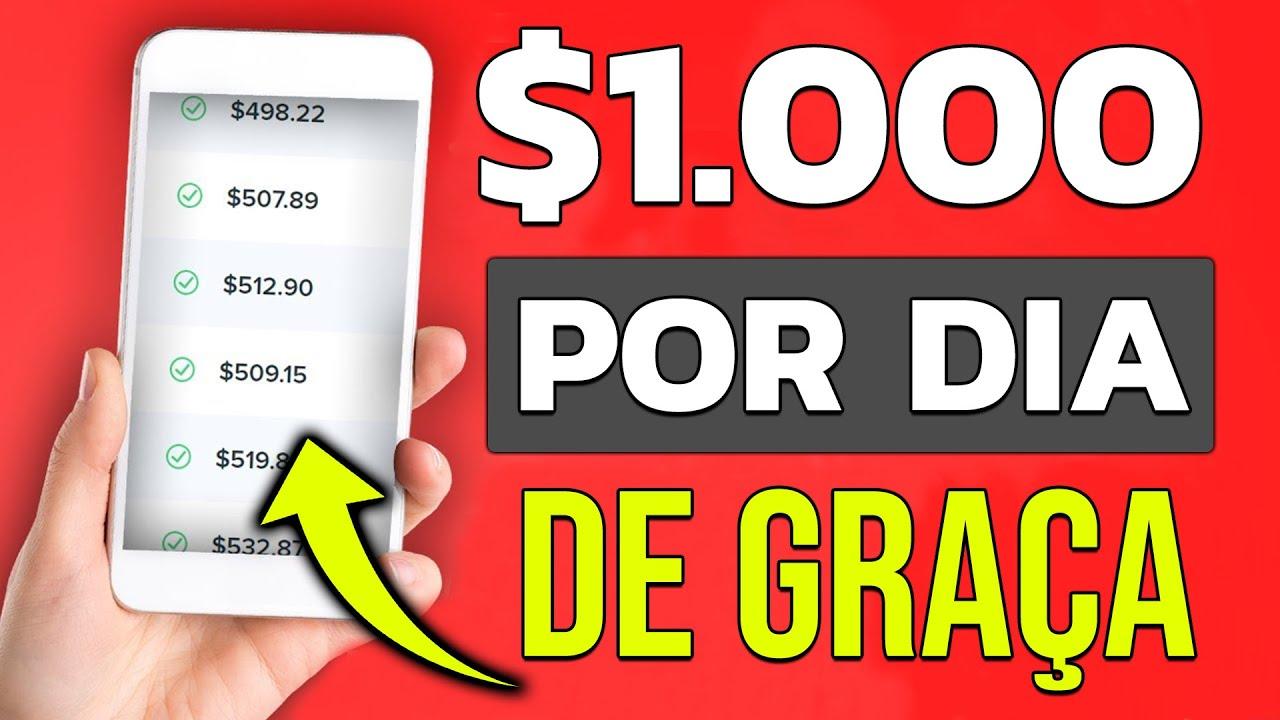 RECEBA $1,000 POR DIA Usando esse NOVO APP - (+prova de pagamento) Como Ganhar Dinheiro no Paypal