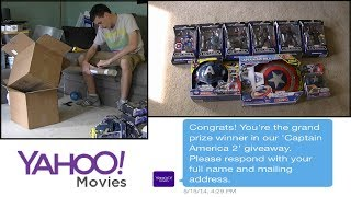 Yahoo Movies Captain America Grand Prize Winner! (Signed Poster + Collectibles)