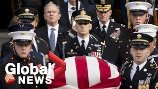 Memorial service for former president George H.W. Bush