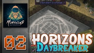 "Minecraft - Horizons : Daybreaker- FTB -60FPS - ""Equivalent Exchange 3 Storage System!"" - S1E02"