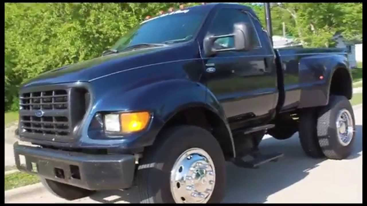 Ford F 650 Powerstroke Diesel Pickup Truck Youtube
