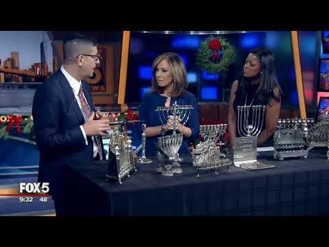 Jonathan Greenstein on Fox Hanukkah menorahs 2017