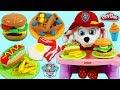 Feeding Baby Marshall Play Doh Breakfast, Hamburger, and More!