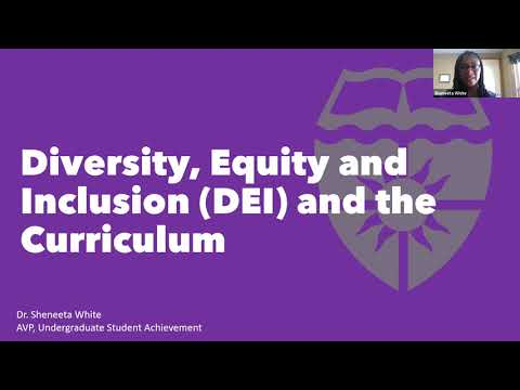 Diversity, Equity and Inclusion in the Curriculum