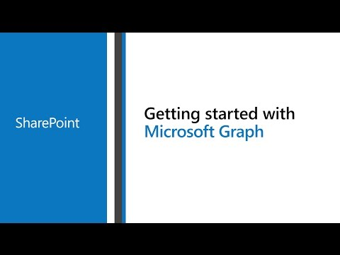 Access Microsoft SharePoint with the Microsoft Graph - YouTube