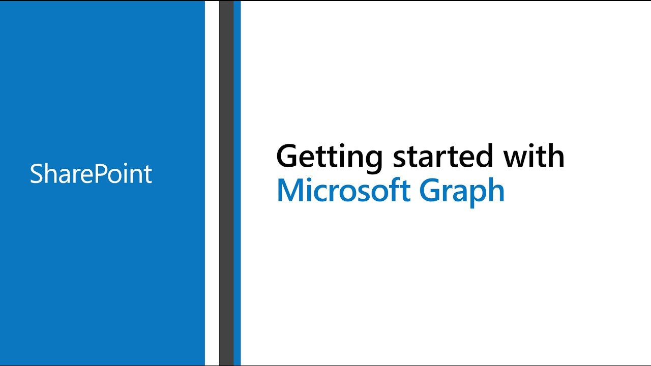 Access Microsoft SharePoint with the Microsoft Graph