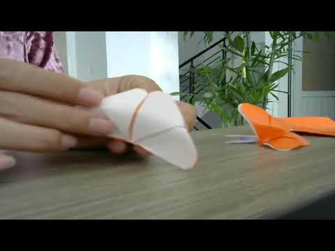 làm bươm bướm đơn giản từ giấy